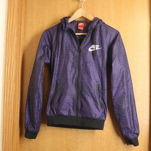 Nike Purple Black Striped Windbreaker Wmn's XS